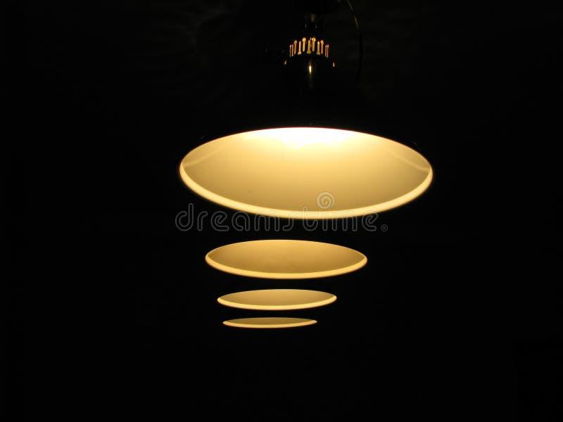 Quatro lâmpadas pendent imagens de stock royalty free