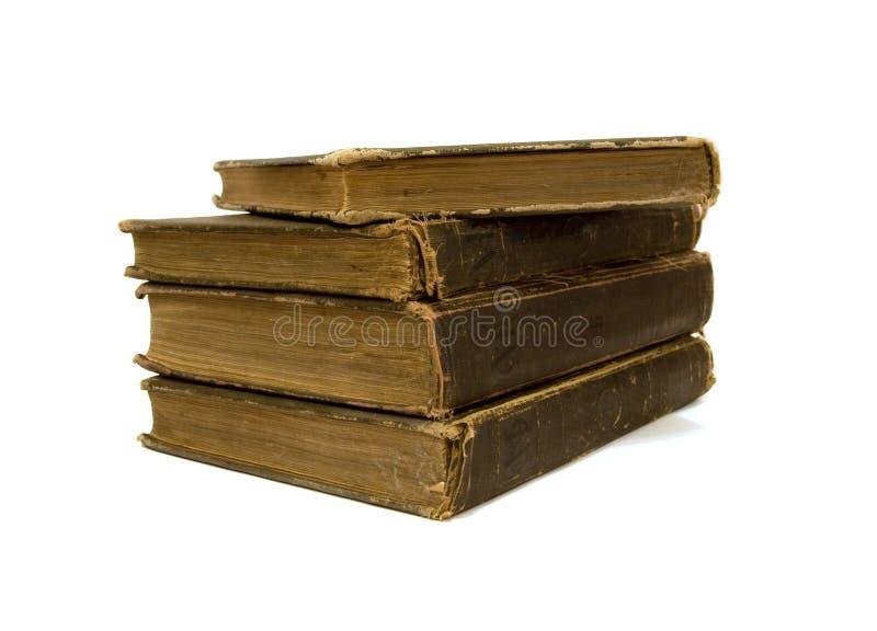 Quatro livros velhos foto de stock