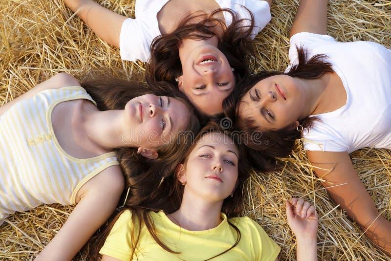 Quatro meninas fotos de stock royalty free