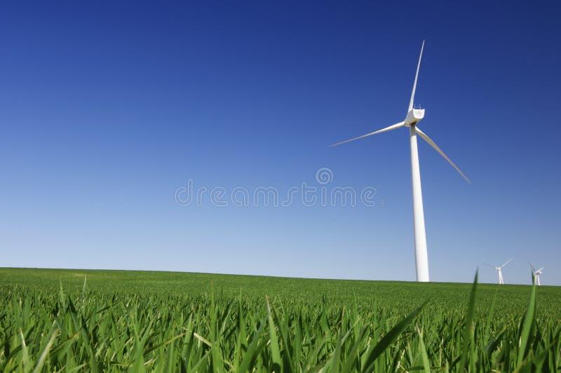 Quatro moinhos de vento fotografia de stock