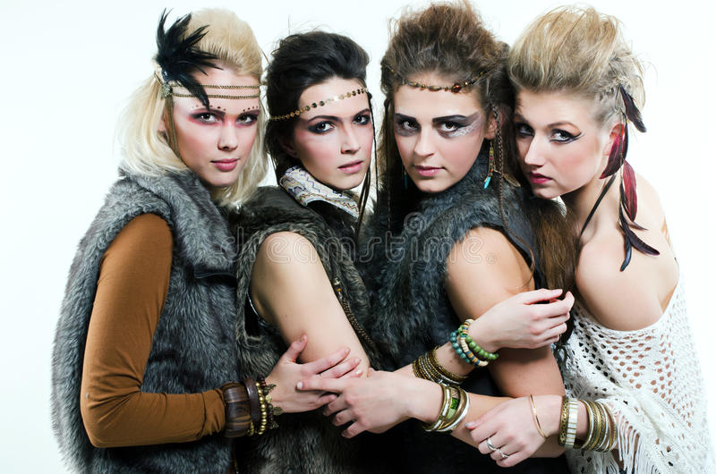 Quatro mulheres foto de stock royalty free