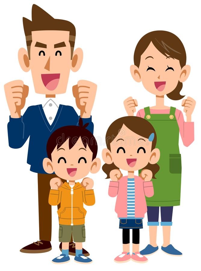 Quatro na família isso parece ser agradável ilustração stock