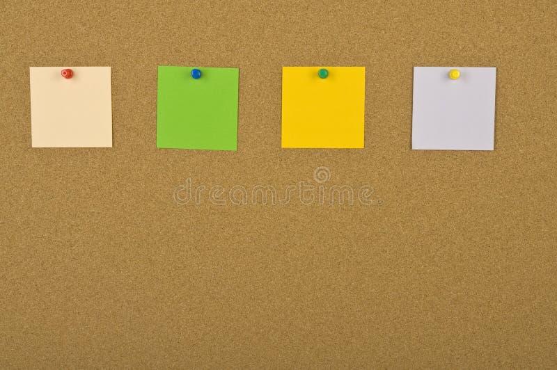 Quatro notas em branco fotos de stock