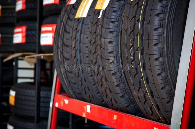 Quatro pneus novos imagem de stock royalty free