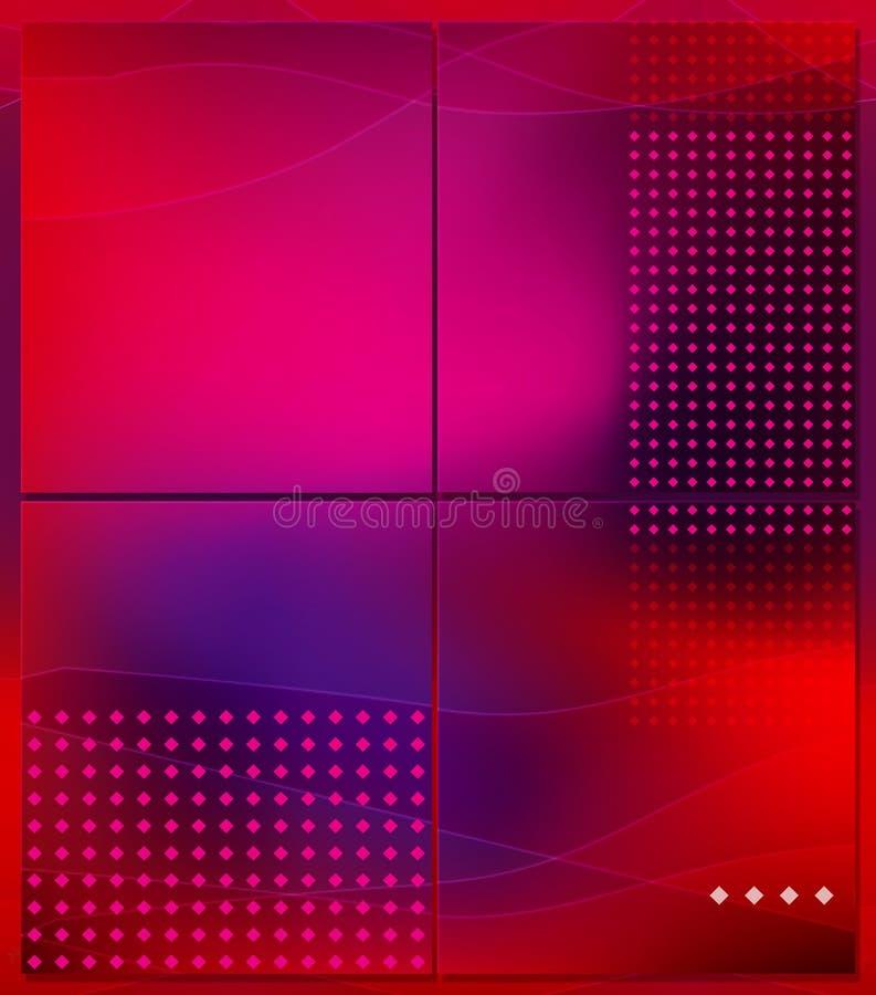 Quatro porções do fundo abstrato ilustração stock