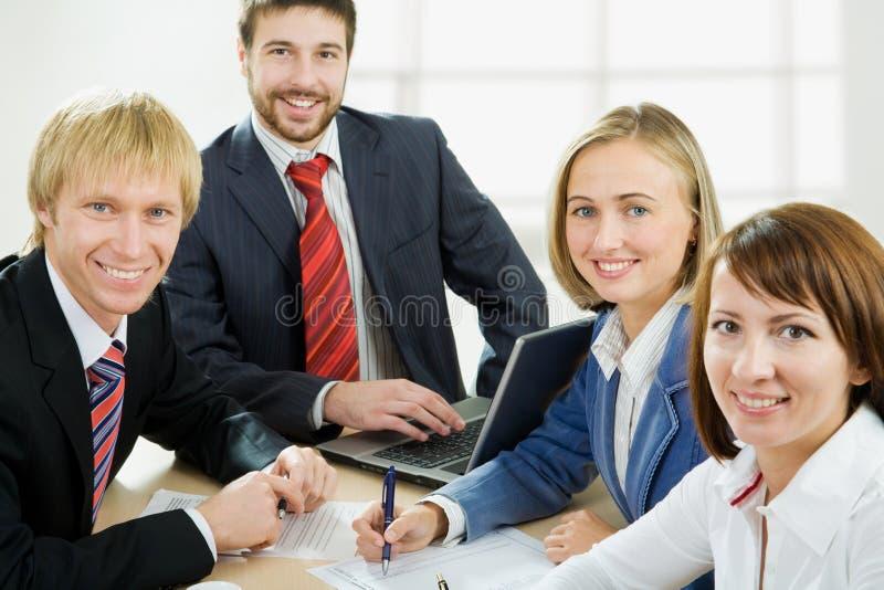 Quatro profissionais fotos de stock