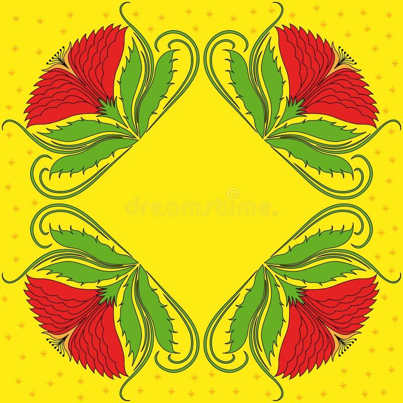 Quatro rosetas vermelhas ilustração royalty free