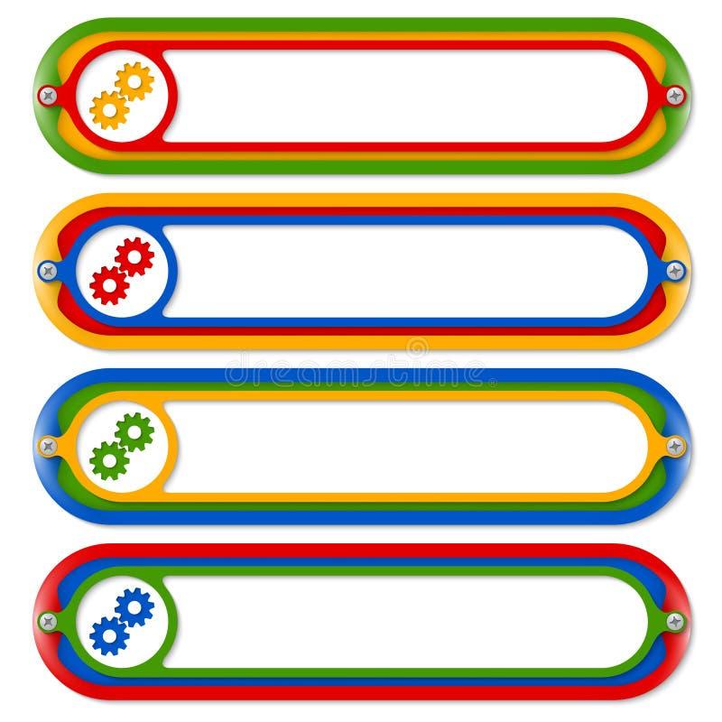 Quatro teclas coloridas ilustração royalty free