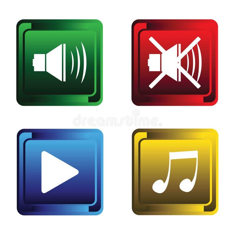 Quatro teclas musicais ilustração royalty free
