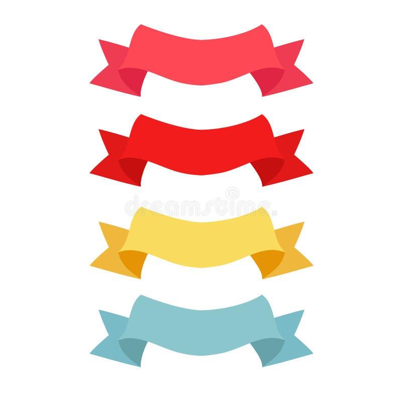 Quatro testes padrões da fita da cor ilustração do vetor