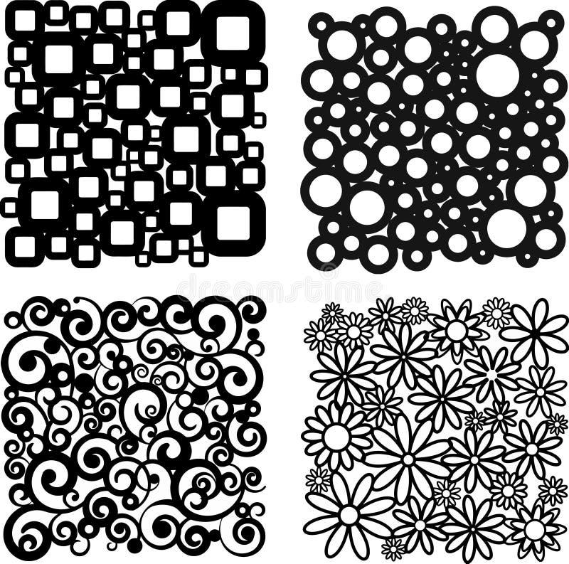 Quatro testes padrões diferentes ilustração do vetor