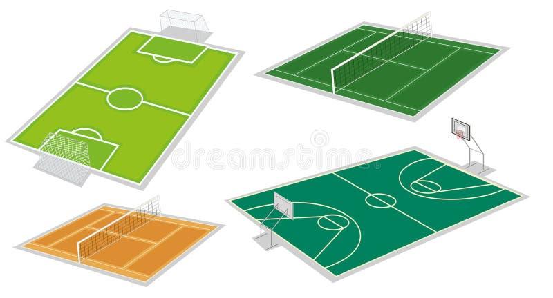 Quatro tipos diferentes das cortes ilustração stock