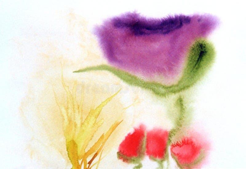 Quatro Tulips ilustração do vetor