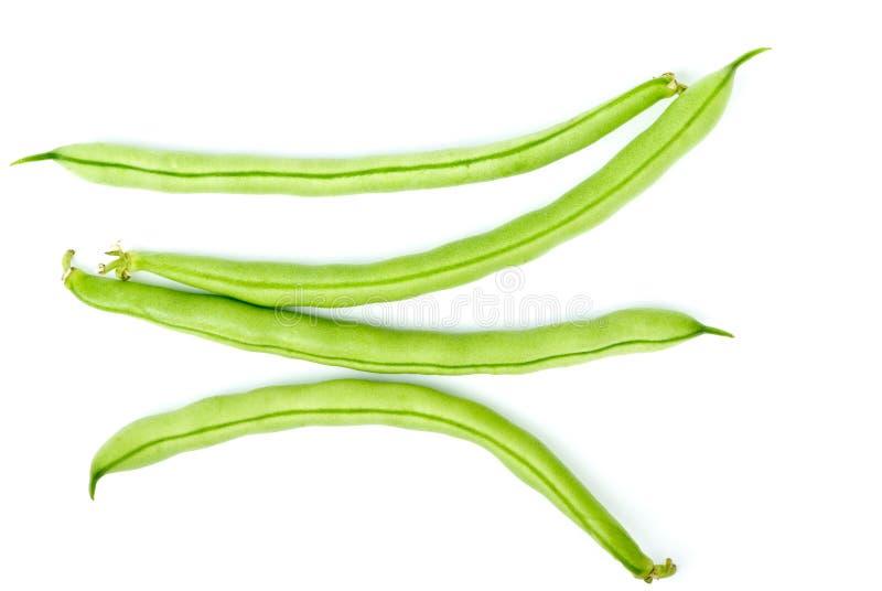 Quatro vagens do feijão verde imagens de stock