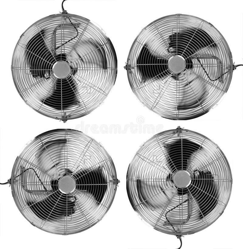 Quatro ventiladores ilustração stock