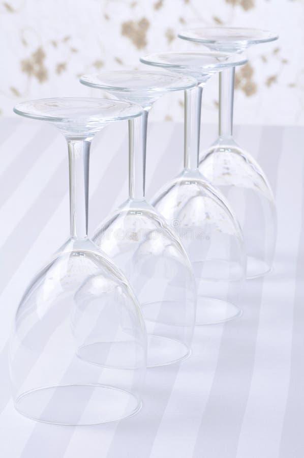 Quatro vidros de vinho imagens de stock royalty free