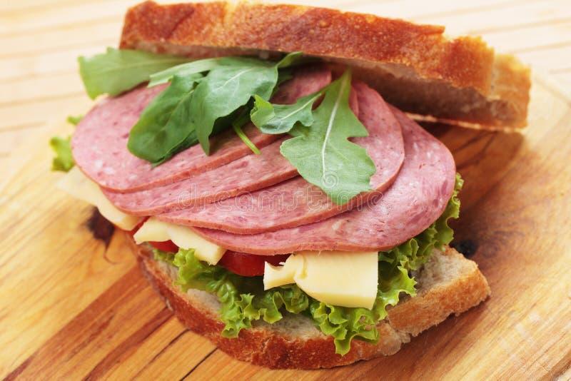 Quatsch und Käsesandwich lizenzfreie stockbilder