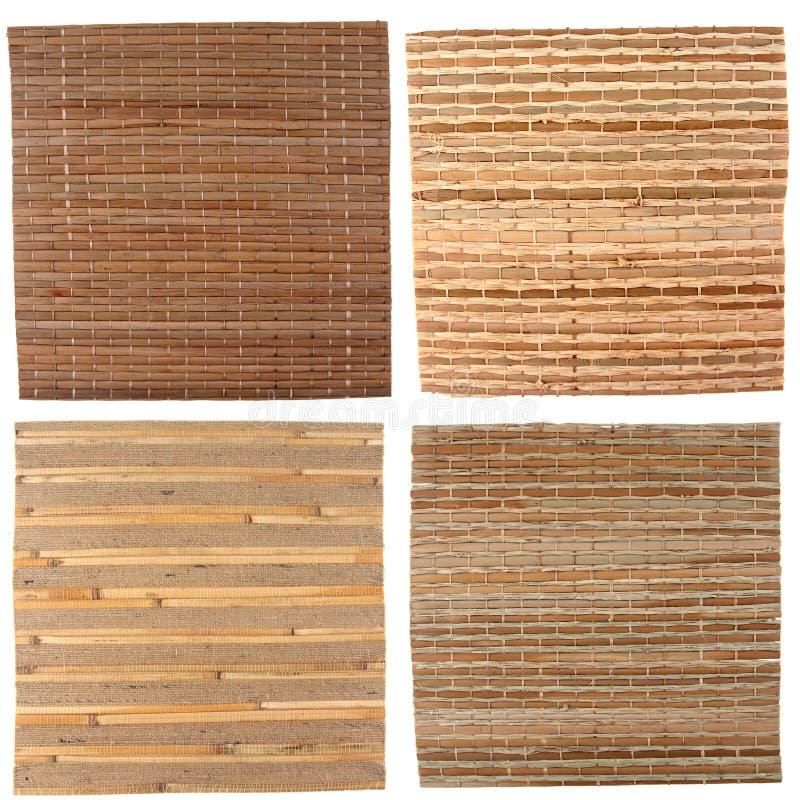 Quattro ambiti di provenienza di bambù immagine stock