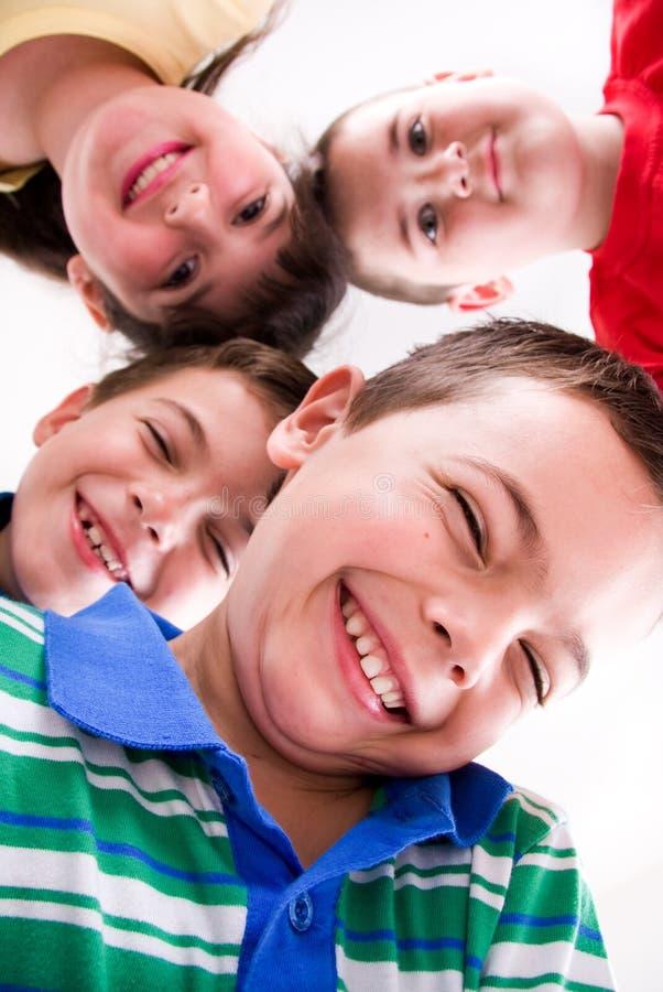 Quattro amici immagini stock