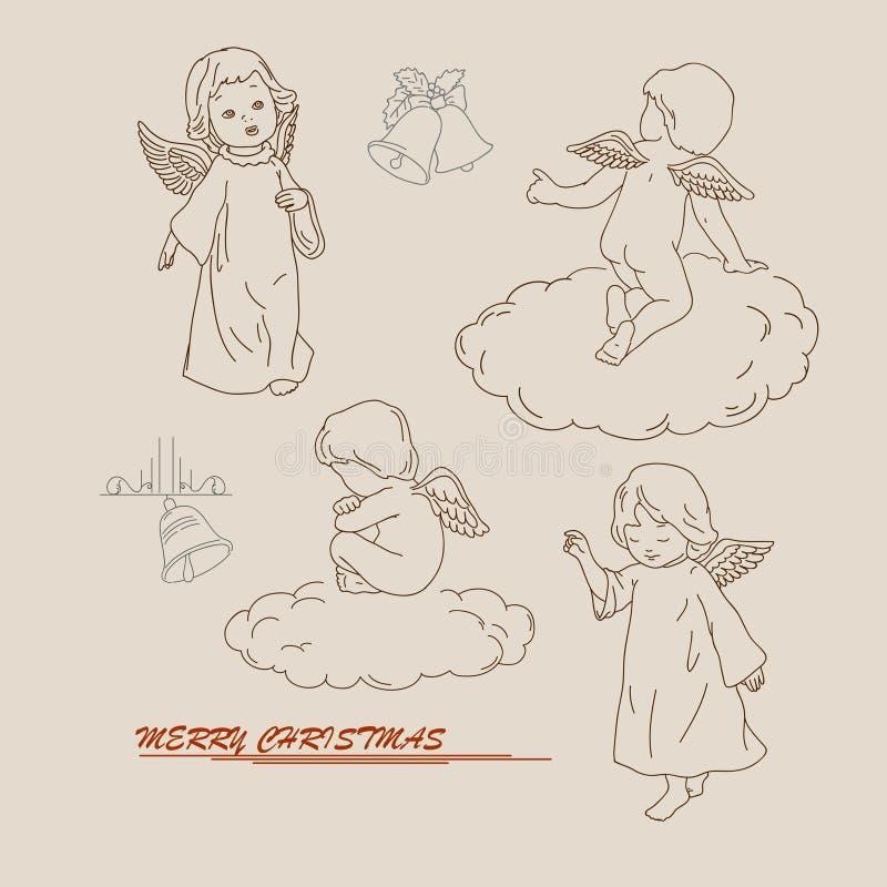 Quattro angeli royalty illustrazione gratis