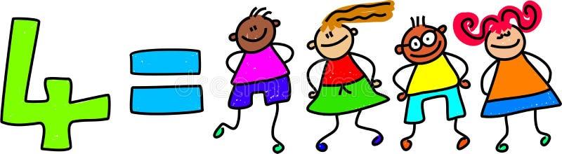 Quattro bambini illustrazione di stock