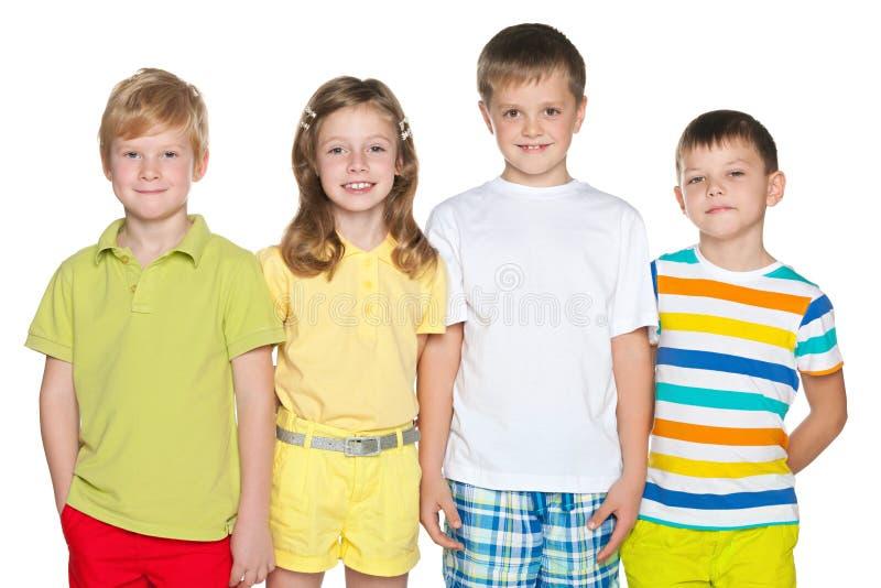 Quattro bambini fotografia stock