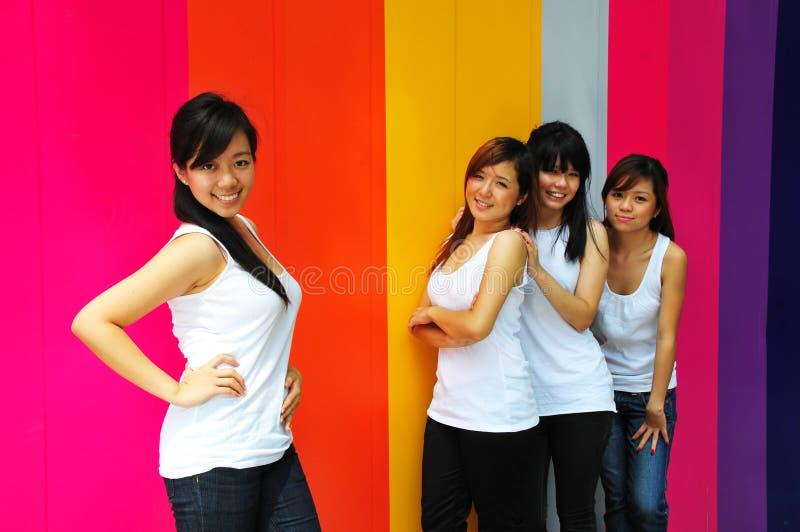 Quattro belle amiche fotografia stock
