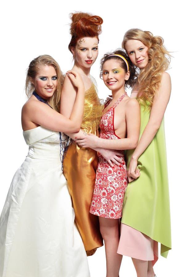 Quattro belle ragazze immagini stock