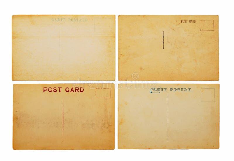 Quattro cartoline antiche immagini stock libere da diritti