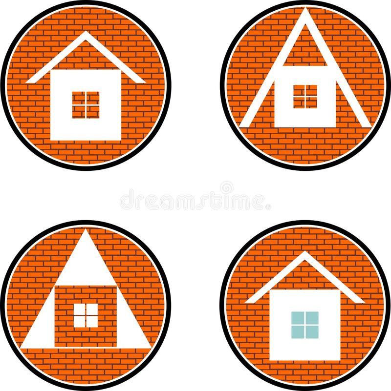 Quattro case royalty illustrazione gratis