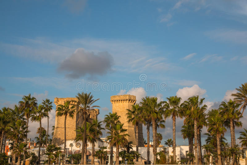 Quattro Colonne Near Santa Maria Al Bagno Stock Photo - Image of ...