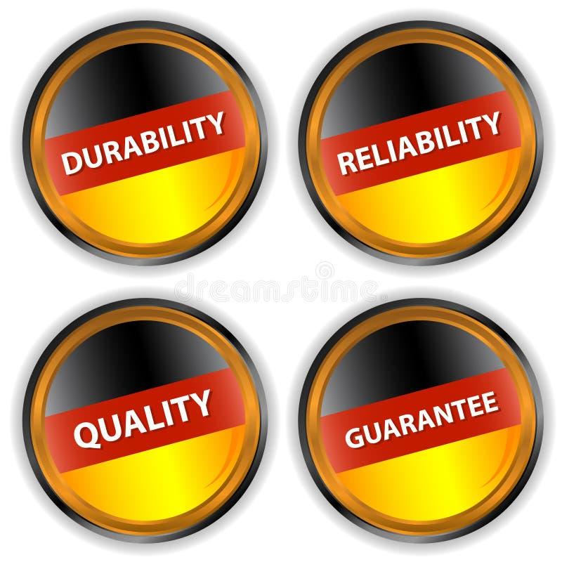Quattro contrassegni tedeschi illustrazione di stock