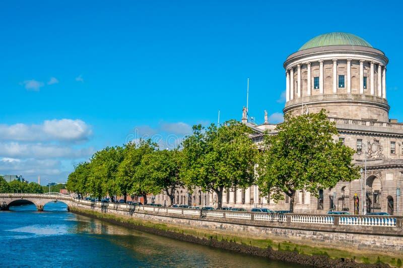 Quattro corti Dublino fotografie stock