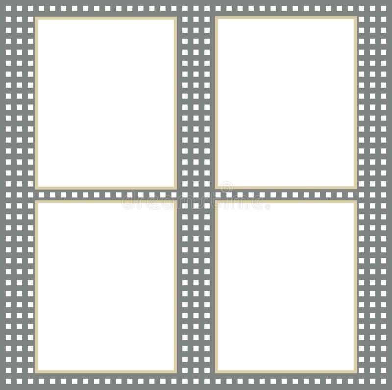 Quattro dello strato di carta sui precedenti tessuti royalty illustrazione gratis