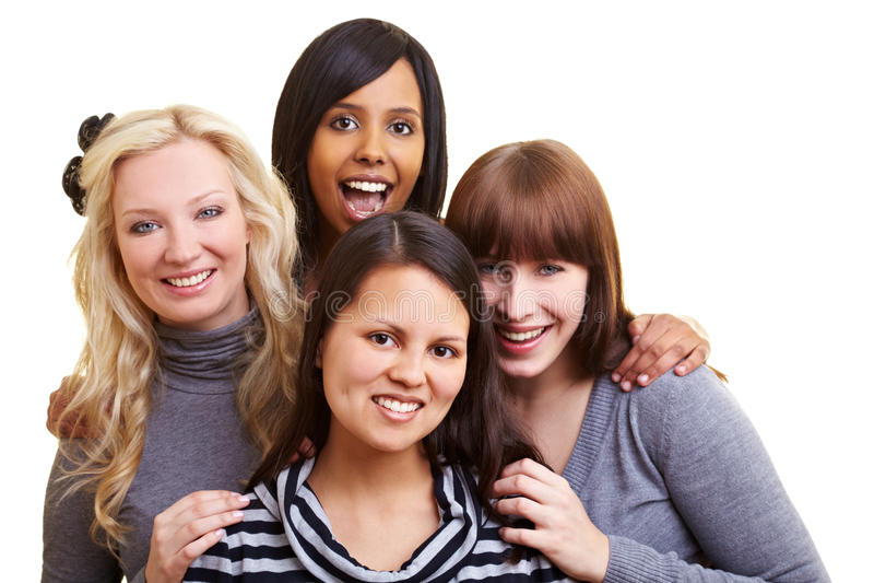 Quattro donne in una squadra immagine stock libera da diritti