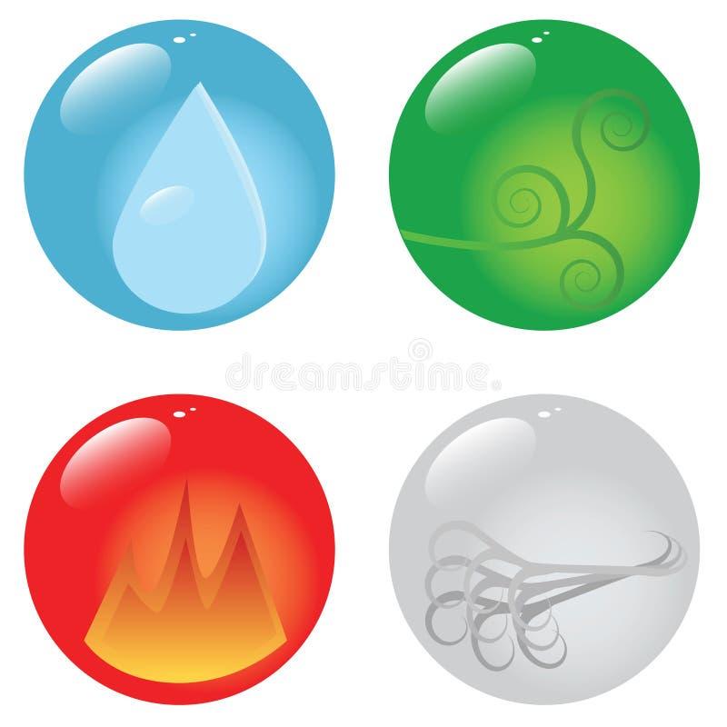 Quattro elementi royalty illustrazione gratis