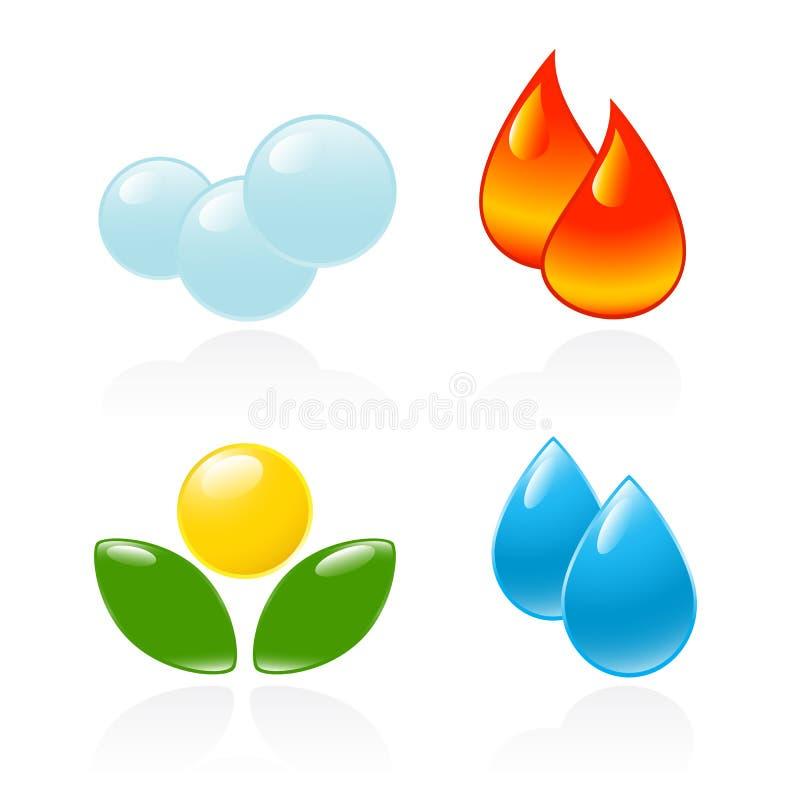 Quattro elementi. royalty illustrazione gratis