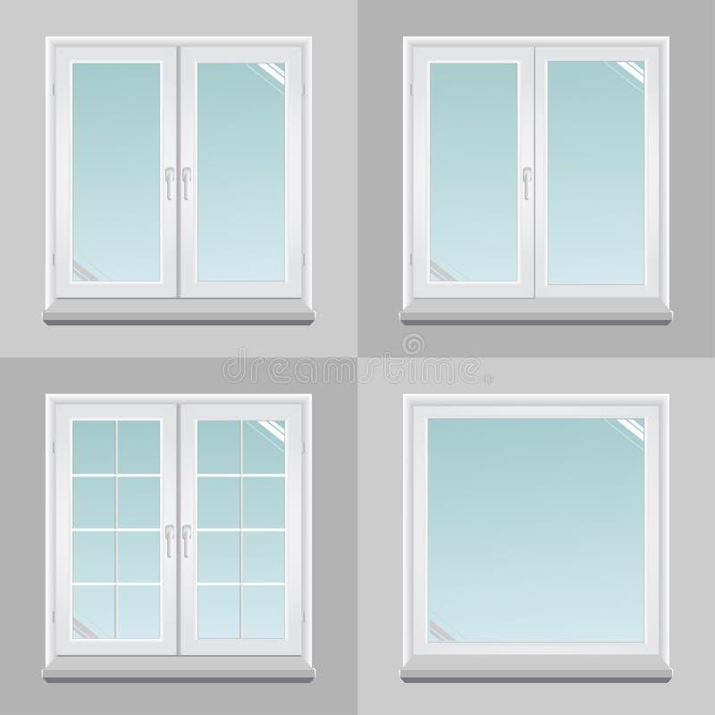 Quattro finestre del pvc illustrazione vettoriale - Stock finestre pvc ...