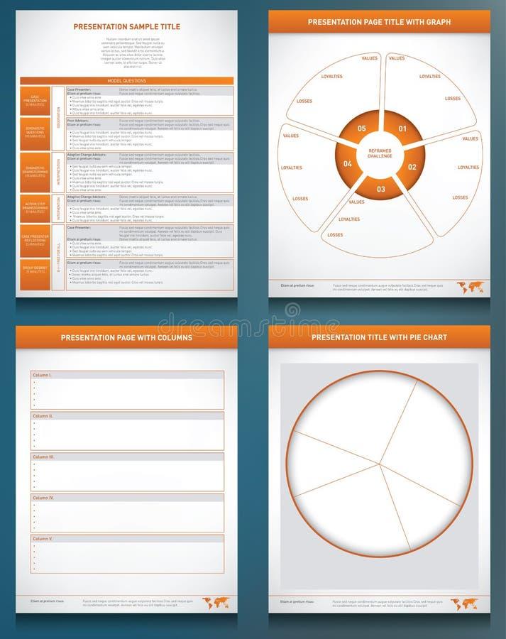 Quattro grafici del grafico delle prestazioni royalty illustrazione gratis
