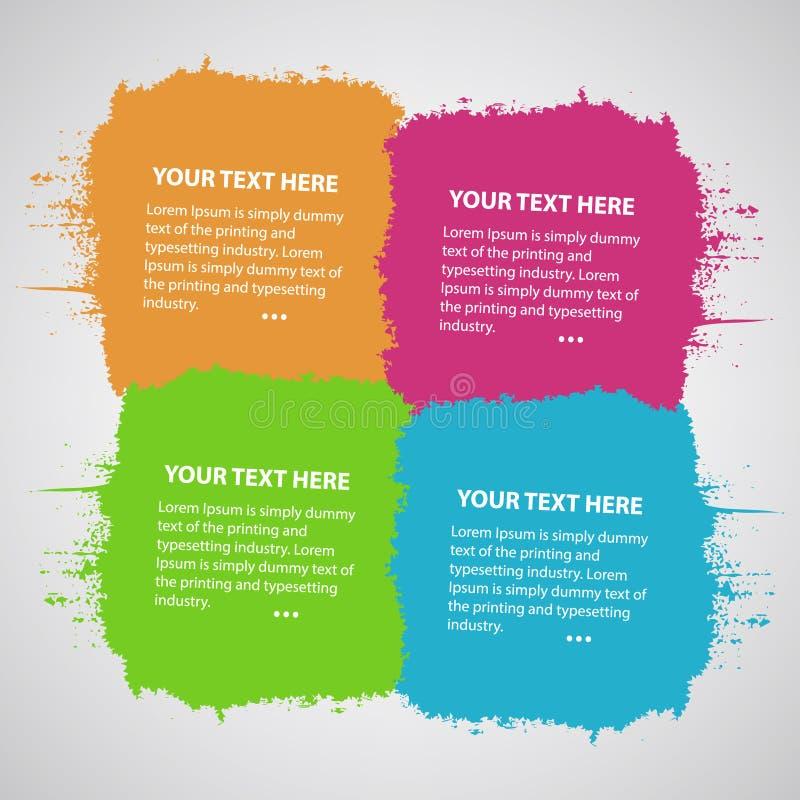 Quattro macchie collegate colorate illustrazione di stock
