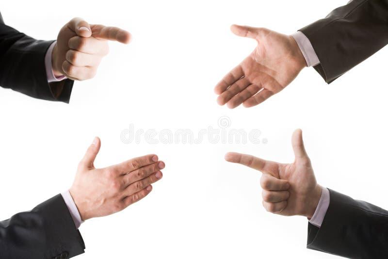 Quattro mani immagini stock libere da diritti
