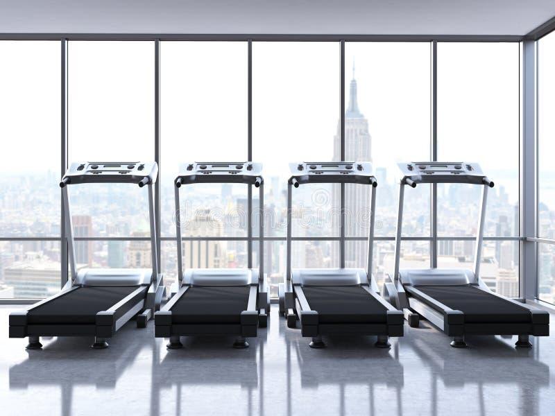Quattro pedane mobili con la vista di NY royalty illustrazione gratis