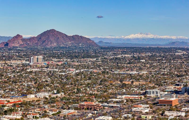 Quattro picchi di neve intrappolati sopra Phoenix fotografie stock libere da diritti