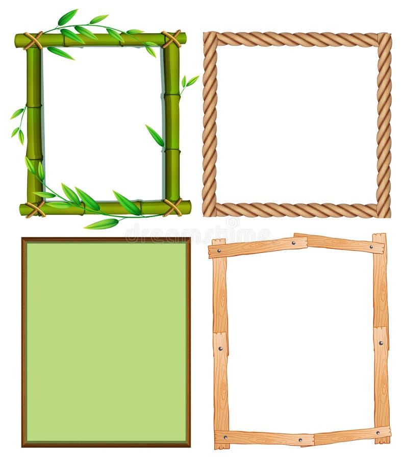 Quattro progettazioni differenti dei telai illustrazione vettoriale