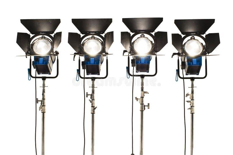 Download Quattro proiettori. immagine stock. Immagine di lampada - 7321297