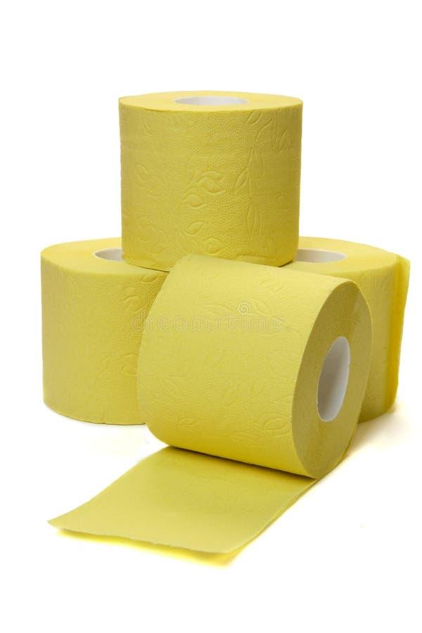 Quattro rotoli della carta igienica immagine stock libera da diritti