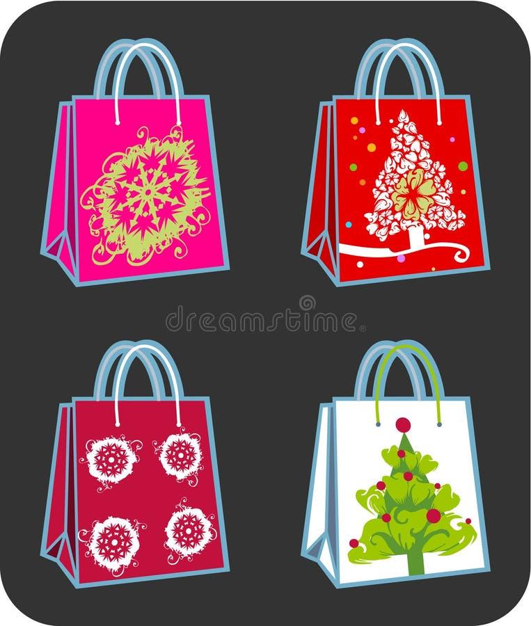 Quattro sacchetti di acquisto royalty illustrazione gratis