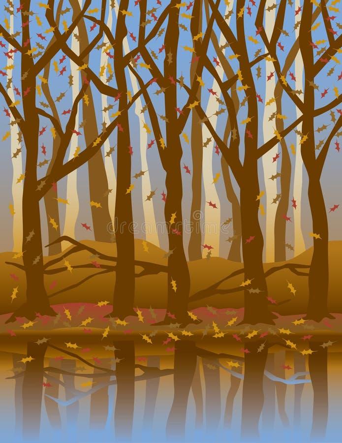 Quattro Seasons_Autumn illustrazione vettoriale