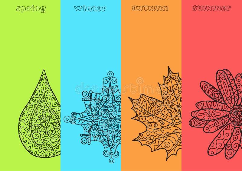 Quattro stagioni illustrazione di stock