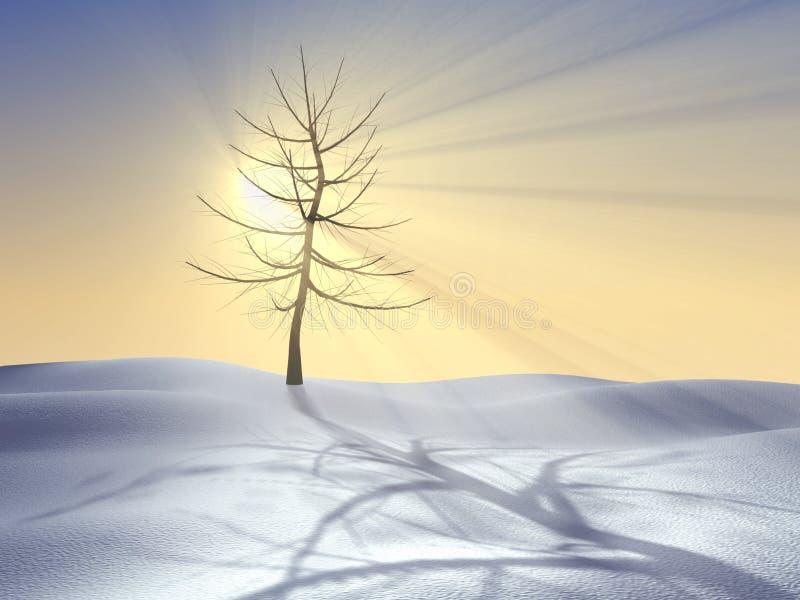 Quattro stagioni serie, inverno illustrazione di stock